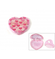 Heart mirror with comb