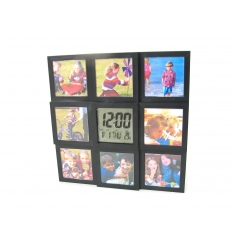Fotoram med klocka