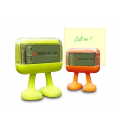 Memo stand and clock