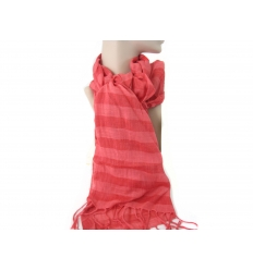 Ladies scarf - red striped