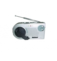 Dynamo radio med ficklampa