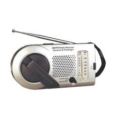 Dynamo radio with flashlight