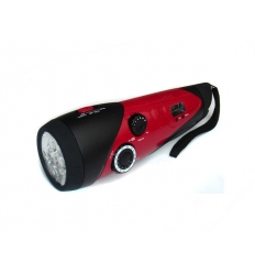 LED flashlight with radio