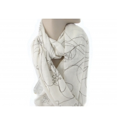 Scarf with printed pattern