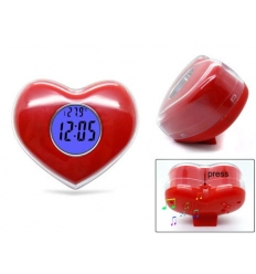 Heart shaped alarm clock
