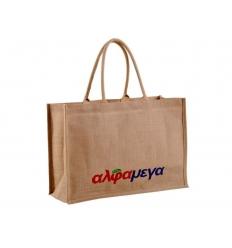 Jute bag with print.