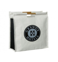 Jute and bamboo bag