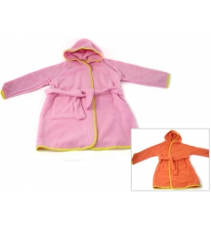 Fleece children bathrobe