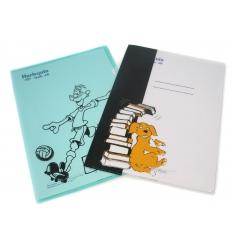 Plastic folder with imprint