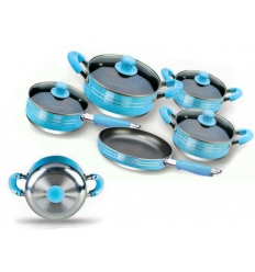 Blue cookware set