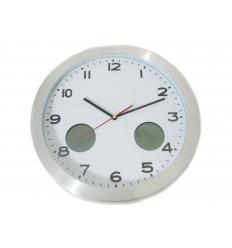 Väggklocka med termometer