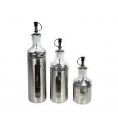 Steel oil bottle