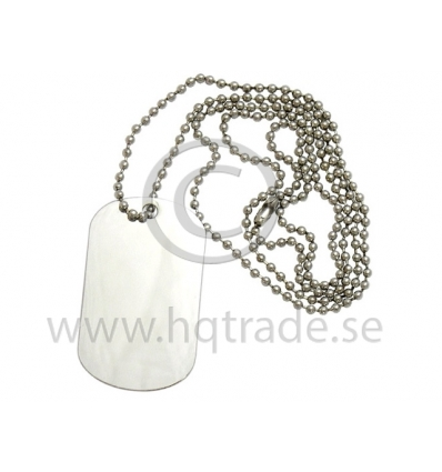 Dog tag halsband med tryck