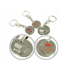 Shopping trolley coin with print