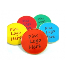 Pins with logo print