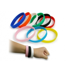 Silicone bracelet with logo