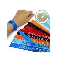 Satin bracelet with print