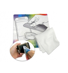 Microfiber cleaning cloth with print