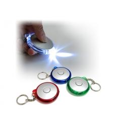 LED-ficklampa i nyckelring - med tryck