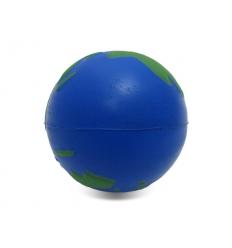 Stressboll med tryck - jordglob