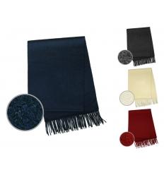 Cashmere-halsduk med brodyr