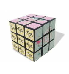Rubiks cube with imprint