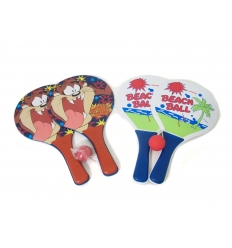 Beach tennis set with print