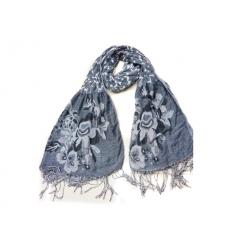Blommönstrad sjal