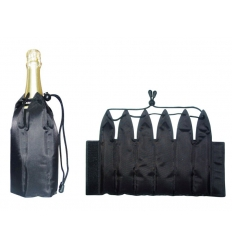 Champagne cooler with cooling gel