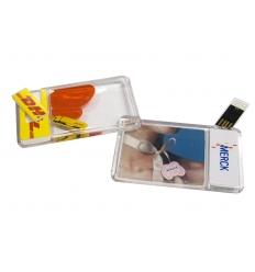 USB flash drive - Card Aqua USB
