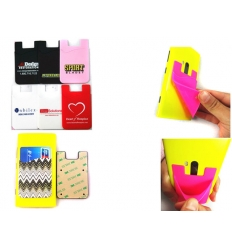Silicone wallet for mobile
