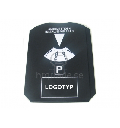 Parkeringsskiva med tryck