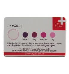 UV-kort med tryck