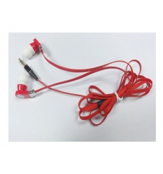 Flat cord earphones