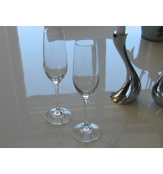 Champagne glass with print