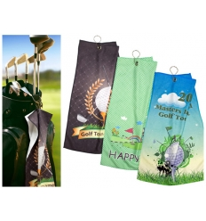 Golf towel with print
