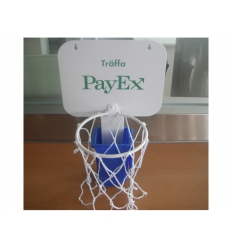 Waste basket basketball set