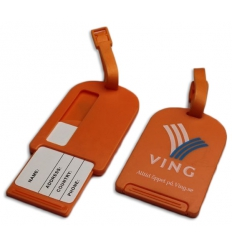 Luggage tag with print