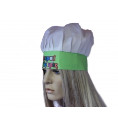 Chefs hat with print