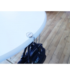Handbag hanger with print
