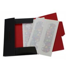 Plåster i tryckt pappersfodral