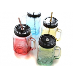 Drink jar with handle