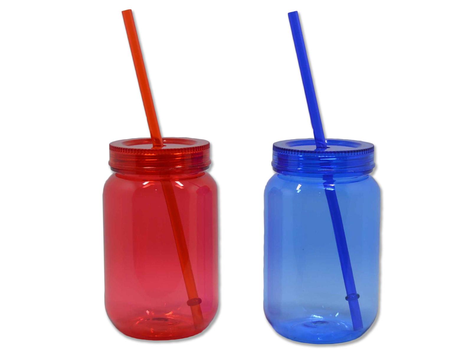 smoothie plastglas med lock
