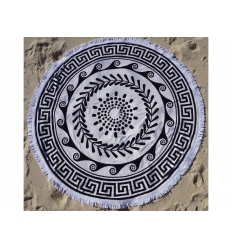 Round towel with tassel