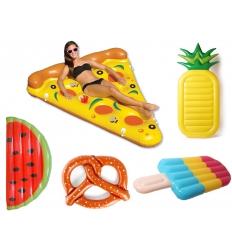 Stora poolleksaker - Uppblåsbar pizza och vattenmelon