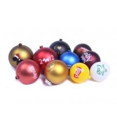 Christmas balls with print