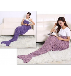 Sjöjungfrufilt - Mermaid blanket