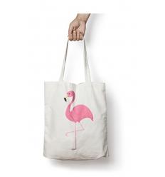 Bomullskasse med er logga - Brand flamingo