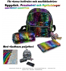 Reversible sequins - Backpack, Pencase and Keychain