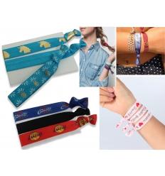Armband - och hårband - Yogaband med tryck